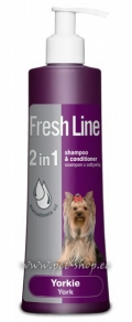 Fresh Line 2 in 1 Shampoo & Conditioner Yorkie - 220 ml