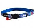 Kassi kaelarihm Rogz Neocat Blue Candystripes 11mm/20-31cm