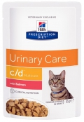 Hill´s Prescription Diet Feline C/D Multicare with Salmon - 12*85g