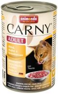 Animonda Cat Carni Adult Rind, Huhn & Entenherzen - 400g*6tk
