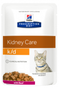 Hill's Prescription Diet Feline K/D Kidney Care with Beef - 12*85g