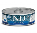 Farmina Cat N&D Ocean Salmon & Codfish & Shrimp - 80g*6tk