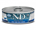 Farmina Cat N&D Ocean Tuna, Codfish & Shrimp - 80g*6tk