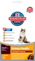 Hill`s Science Plan Feline Adult Urinary Health + Hairball Control
